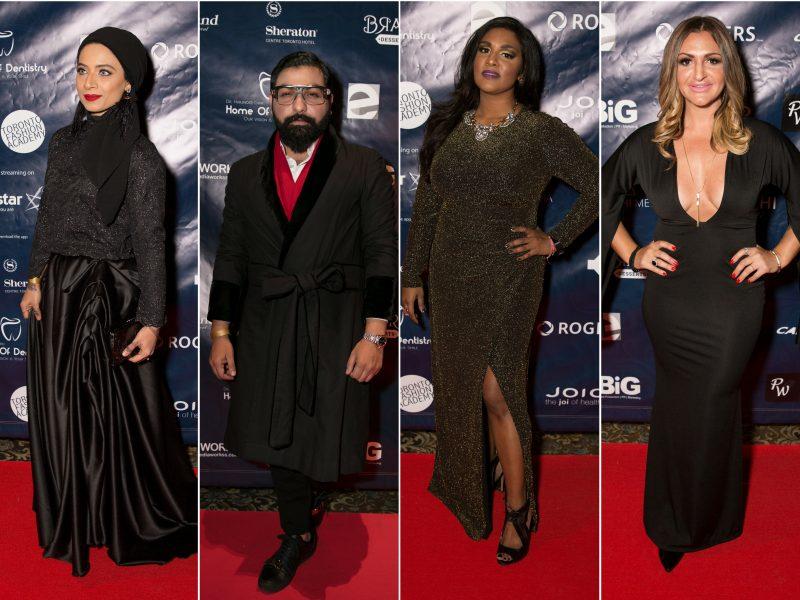 L-R On Red Carpet: Saman Munir, Ali Xeeshan, Roveena, Shae Invidiata