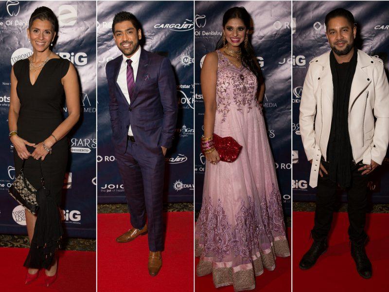L-R On Red Carpet: Angie Seth, Travis Dhanraj, Reetu Gupta, Devo Brown