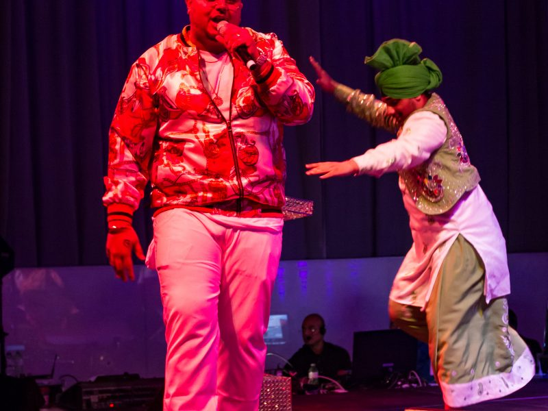 Popular Bhangra Singer Deep Jandu Performs