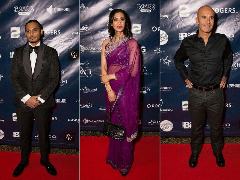 L-R On Red Carpet: Mili Soch, Monika Deol, Robin Sharma