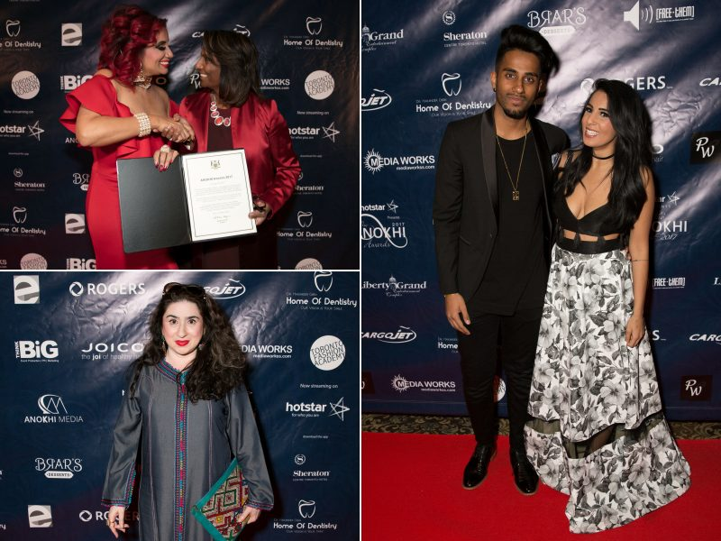 Clockwise On Red Carpet: YouTwoTV, Hina Ansari, Raj Girn & India Naidoo-Haris