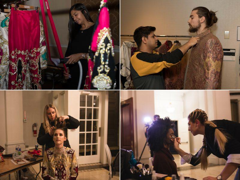 TOP: Fashion Show Producer Toronto Fashion Academy. BOTTOM LEFT: Hair Sponsor Joico. BOTTOM RIGHT: Makeup Sponsor Pretty Woman Cosmetics
