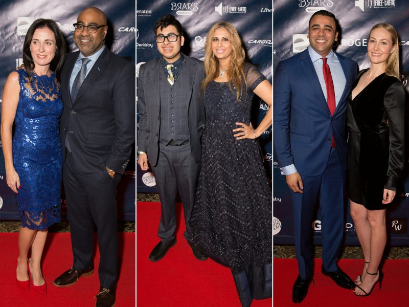 L-R On Red Carpet: Naveen Prasad With Guest, Niam Kumar Jain With Mother Nina Jain, Asad Mecci With Guest